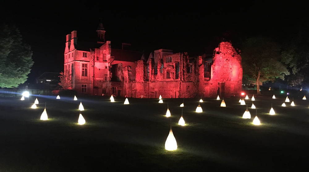 Rufford Abbey Country Park Illuminated Sculptures