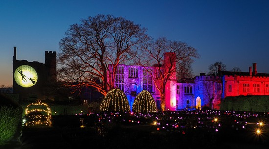Peter Pan theme for Sudeley Castle Spectacle of Light in 2019