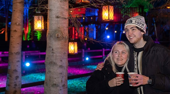 Spectacle of Light Dalkeith Country Park couple enjoying refreshments