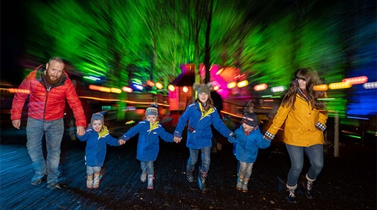 Spectacle of Light Dalkeith Country Park happy family